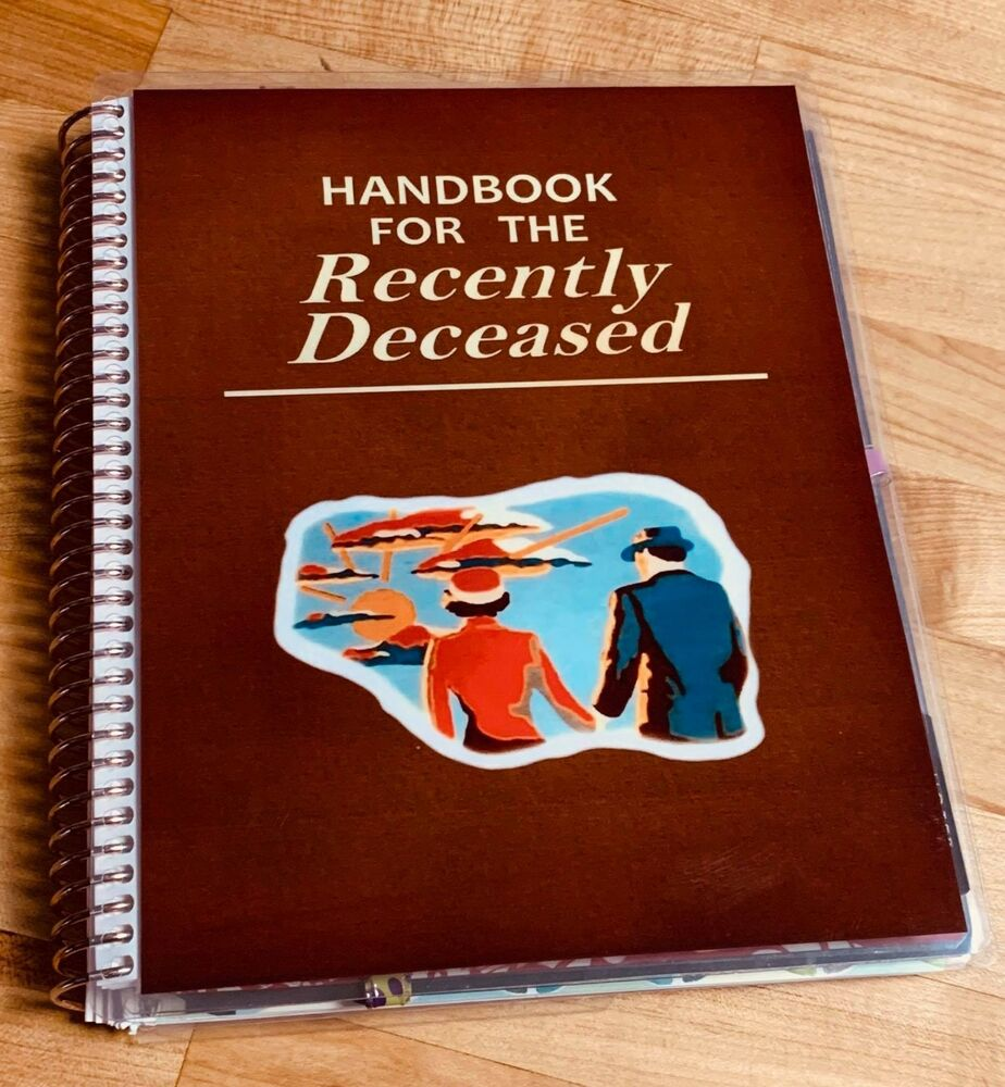Printable Book Cover Handbook For The Recently Deceased : Recently deceased beetlejuice cover set for use w erin