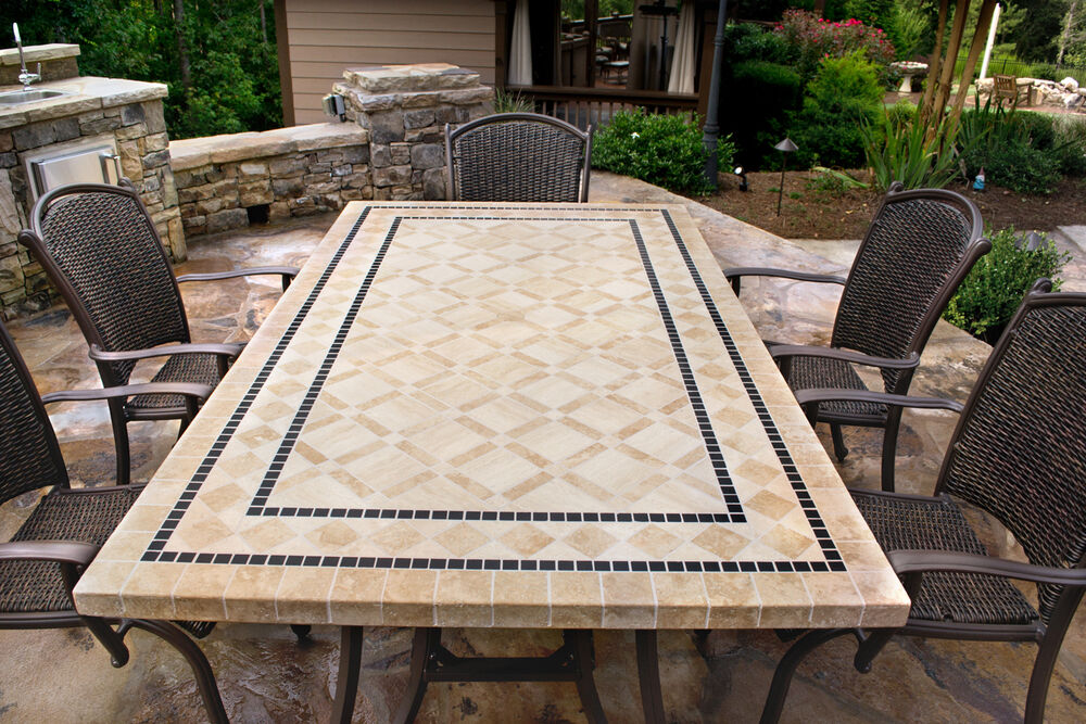 7 piece dining patio deck set outdoor furniture backyard