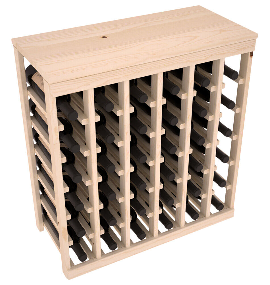 Kitchen Table With Wine Rack: 36 Bottle Kitchen Wine Rack Kit In Ponderosa Pine. Hand