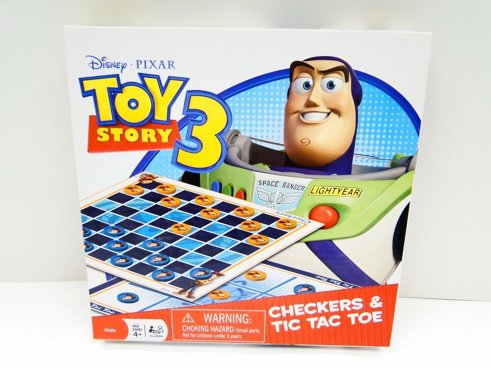 Disney Toy Story 3 Checkers & Tic Tac Toe Game | eBay
