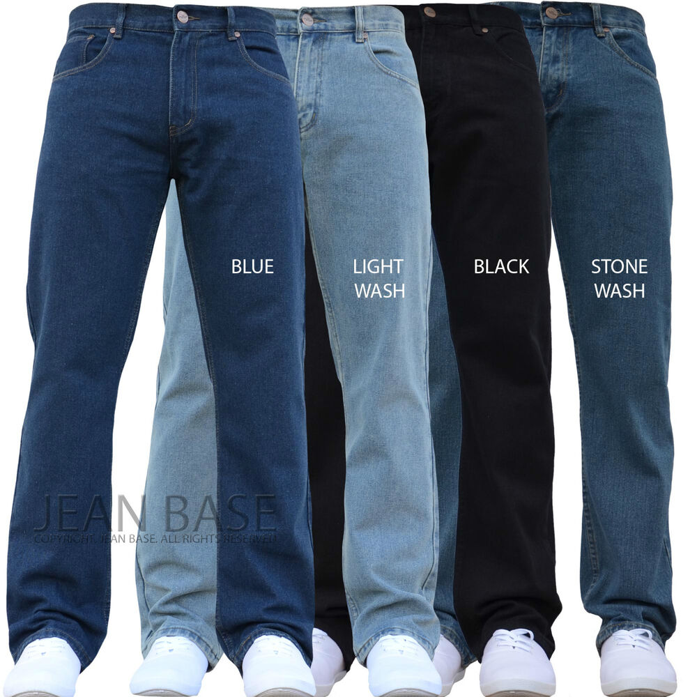 NEW MENS STRAIGHT LEG REGULAR FIT PLAIN BLUE DENIM JEANS ALL WAIST u0026 SIZES MARS | eBay