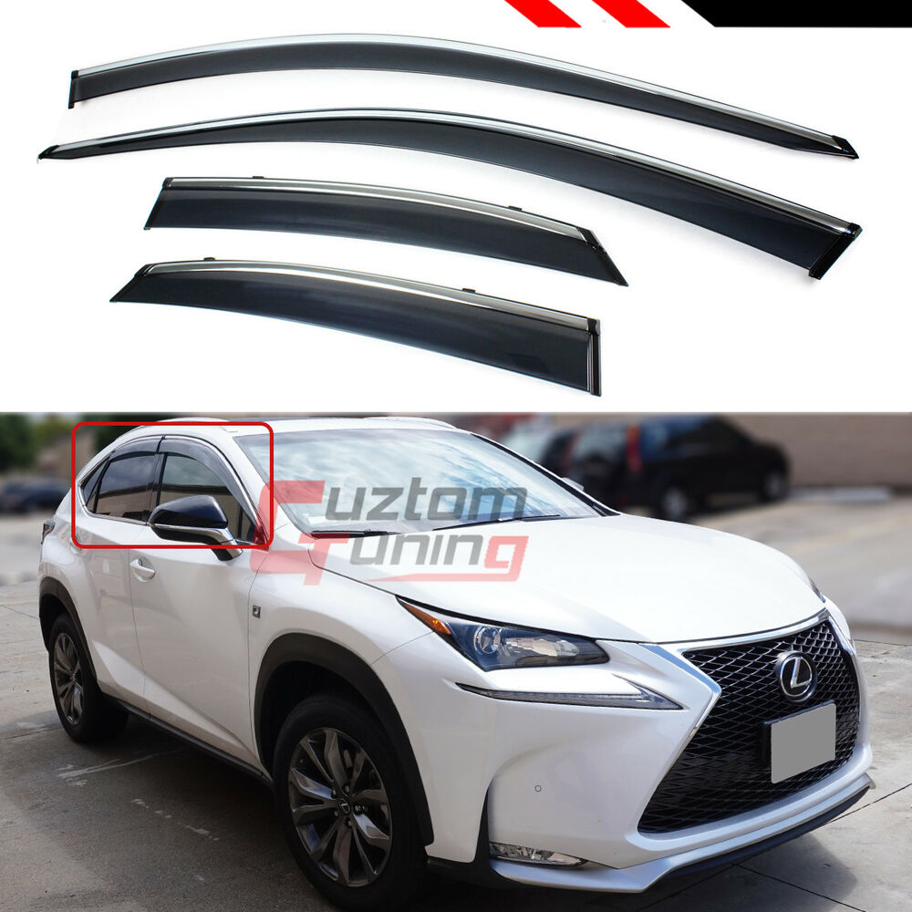 Lexus Crv: FOR 15-18 LEXUS NX200t NX300H F-SPORT CLIP-ON SMOKE WINDOW