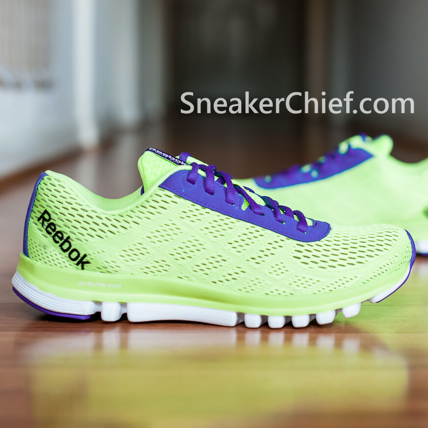 Details about REEBOK SUBLITE DUO SMOOTH WOMENS LIGHTWEIGHT RUNNING SHOES  PURPLE YELLOW M43930 76a004edf