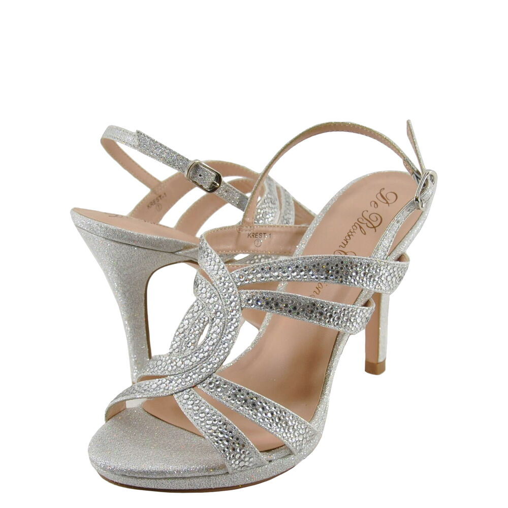 Women's Shoes Blossom Krest 1 Sparkly Strappy Open Toe ...