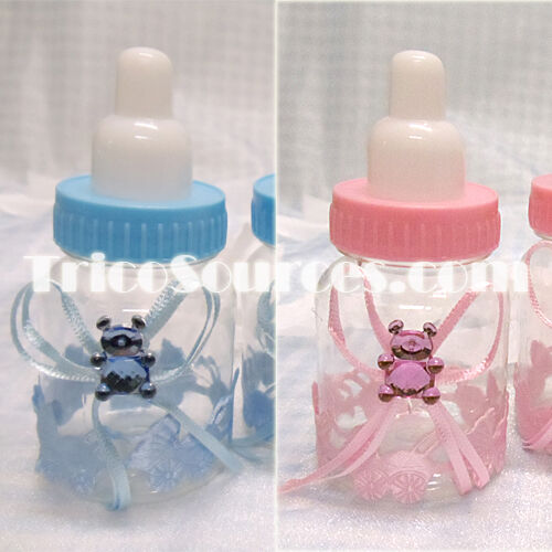 Milk bottle favor openable baby shower party decoration 3 for Baby bottle decoration