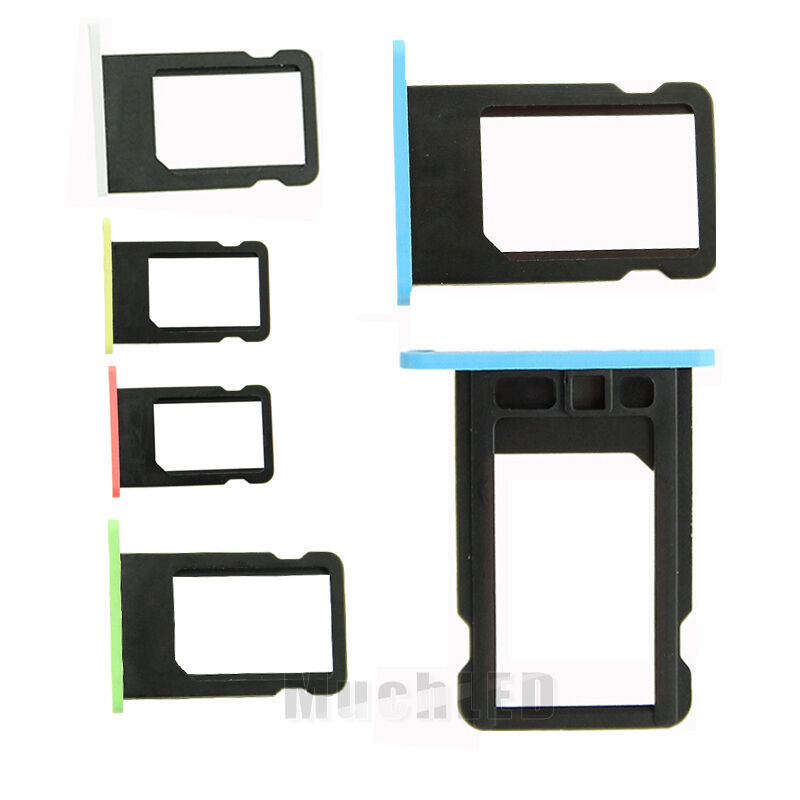 iphone 5c sim card slot replacement nano sim card tray slot holder repairing part 17438
