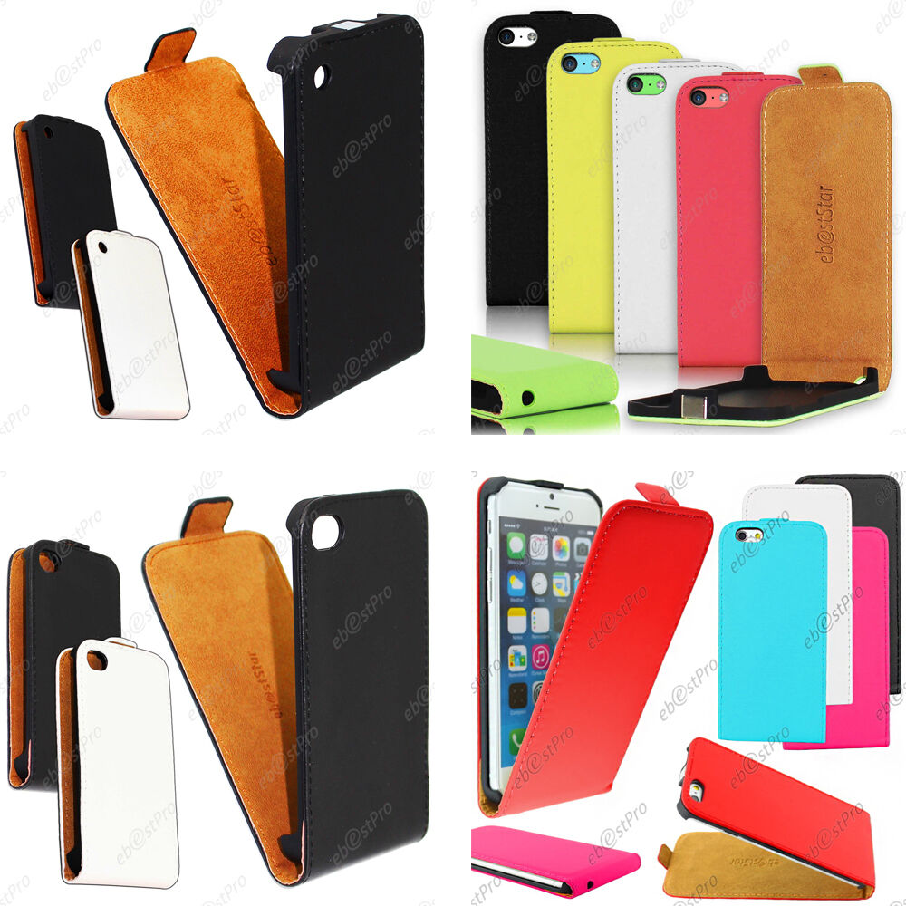 housse etui coque rabat flip clapet pu cuir apple iphone 6 plus 5s 5 4s 4 film ebay. Black Bedroom Furniture Sets. Home Design Ideas