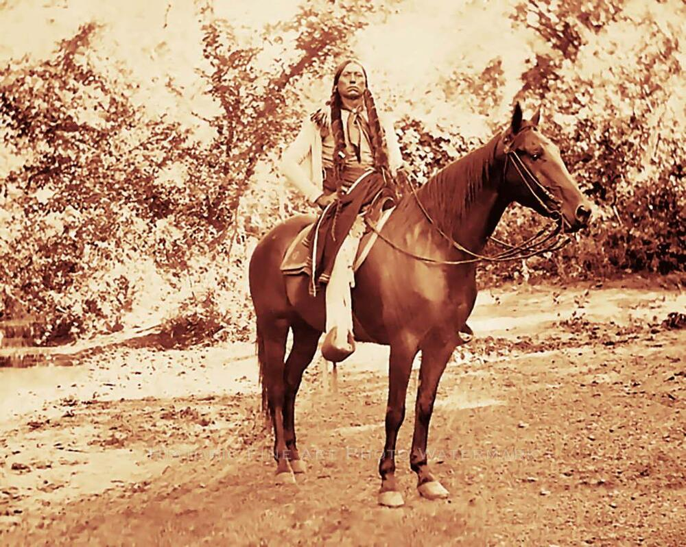 COMANCHE INDIAN CHIEF QUANAH PARKER PHOTO HORSE NATIVE ...