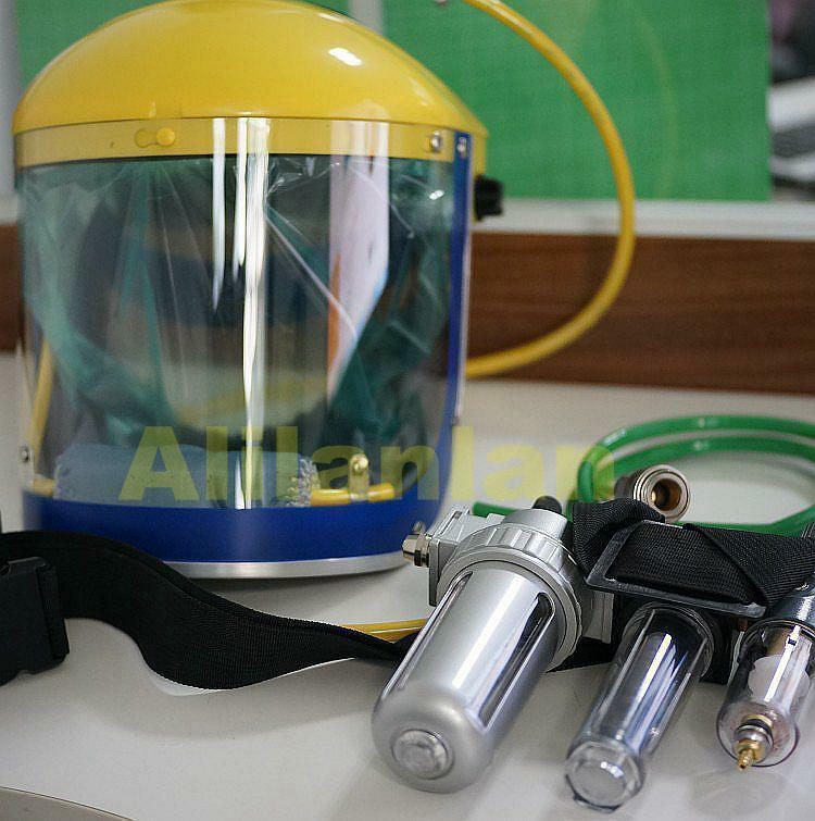 Pro Fresh Air Fed Visor Breathing Mask Supplied Kit For Gas Paint Spray Protect Ebay
