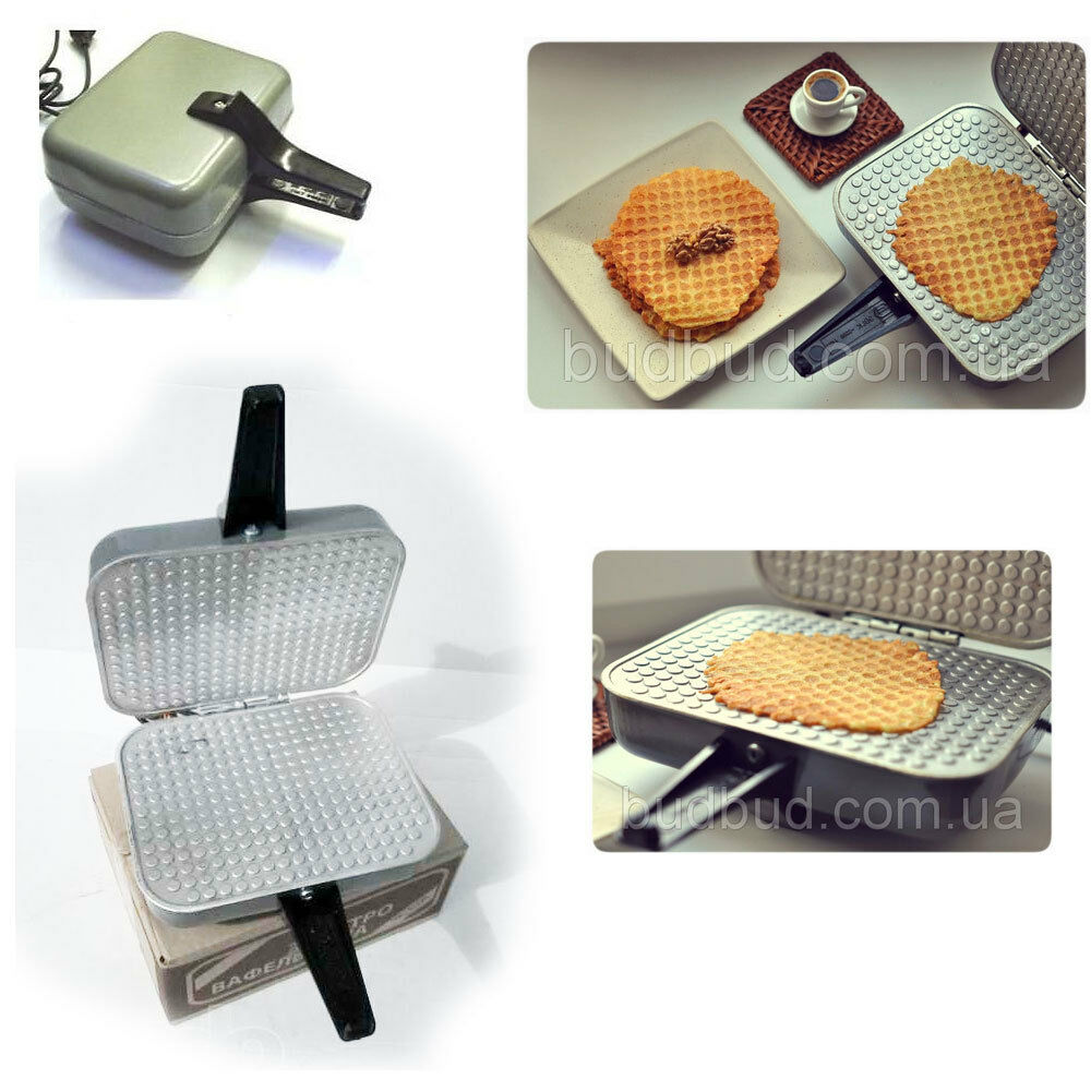 Electric Waffle Maker ~ Russian electric square waffle iron maker eb new ebay