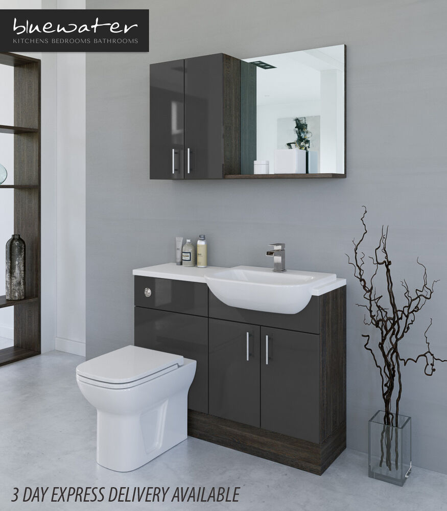 Lastest LATTE  MALI WENGE BATHROOM FITTED FURNITURE 1400MM WITH WALL  EBay