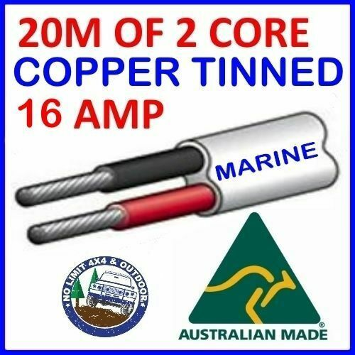 Tinned Trailer Cable : M of core mm wire marine tinned copper trailer cable