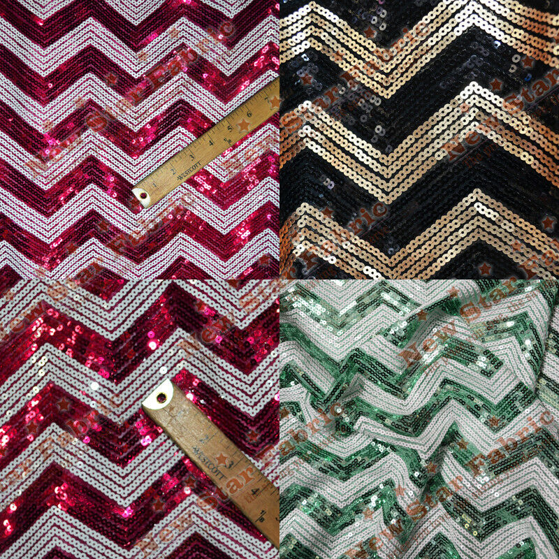 Chevron sequin fabric 55 wide by the yard home decor for Home decorating fabric by the yard