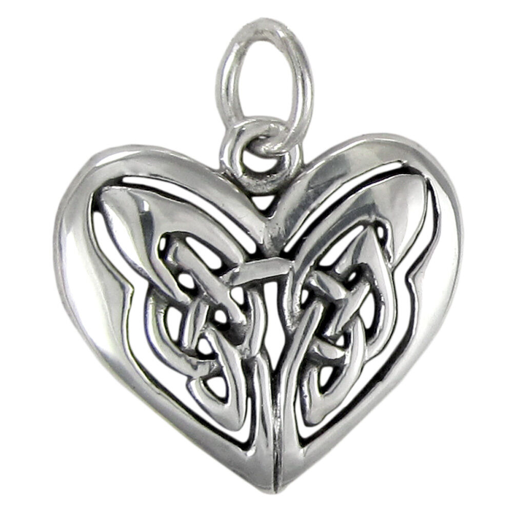 Sterling silver celtic love knot heart pendant charm irish for L love jewelry reviews