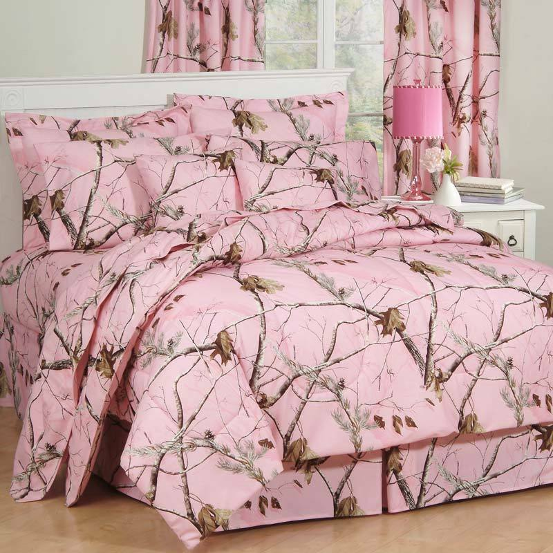 girls realtree ap pink camo comforter set sheets bed in bag twin