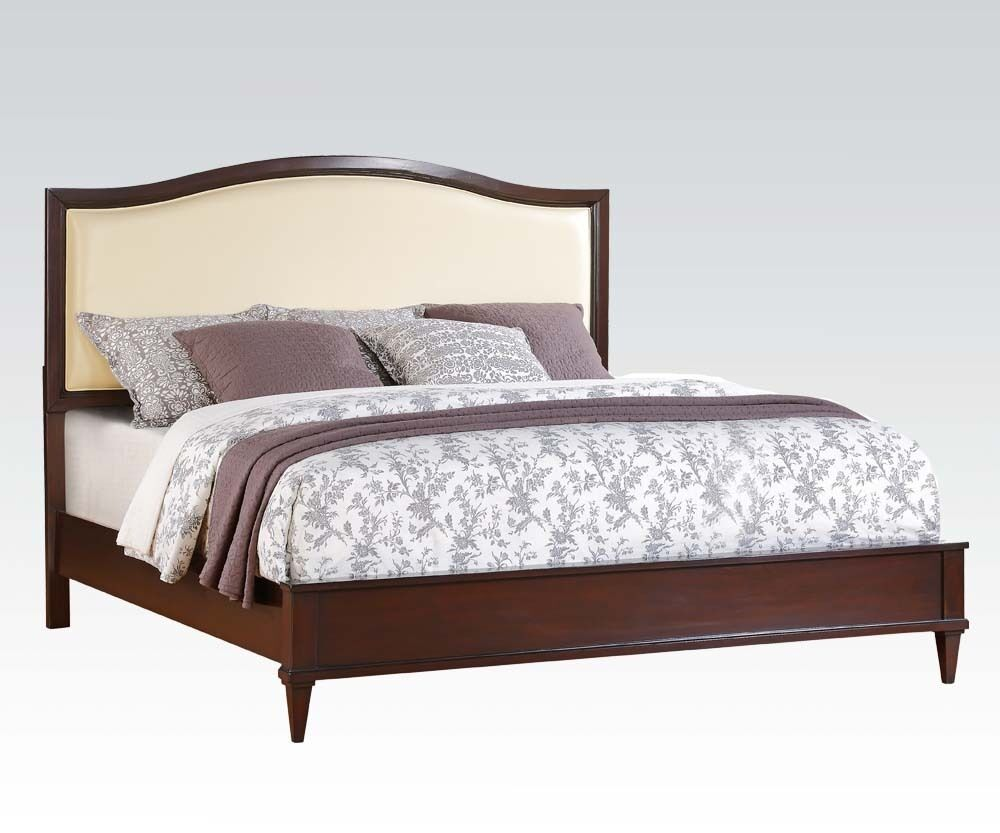 Raleigh cherry finish 1 piece queen cal king est king size for Queen size bedroom sets with mattress