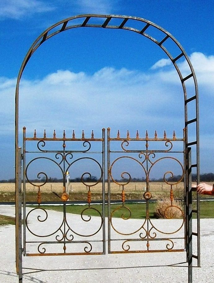 Wrought Iron Garden Mohita Metal Arbor Gate Great Flower