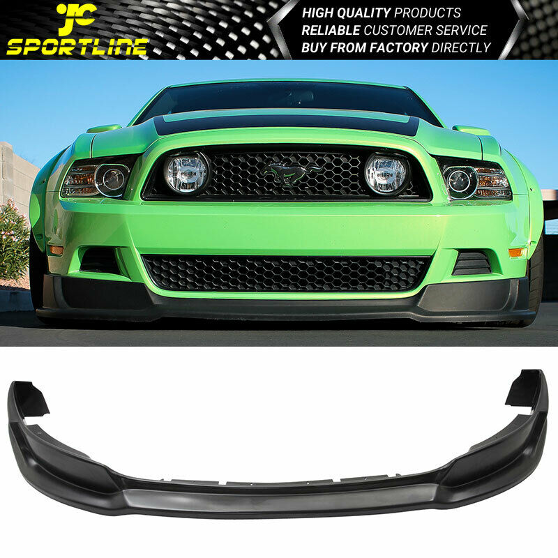 2013 2014 rt style pu front bumper lip spoiler for ford mustang v6 gt ebay. Black Bedroom Furniture Sets. Home Design Ideas
