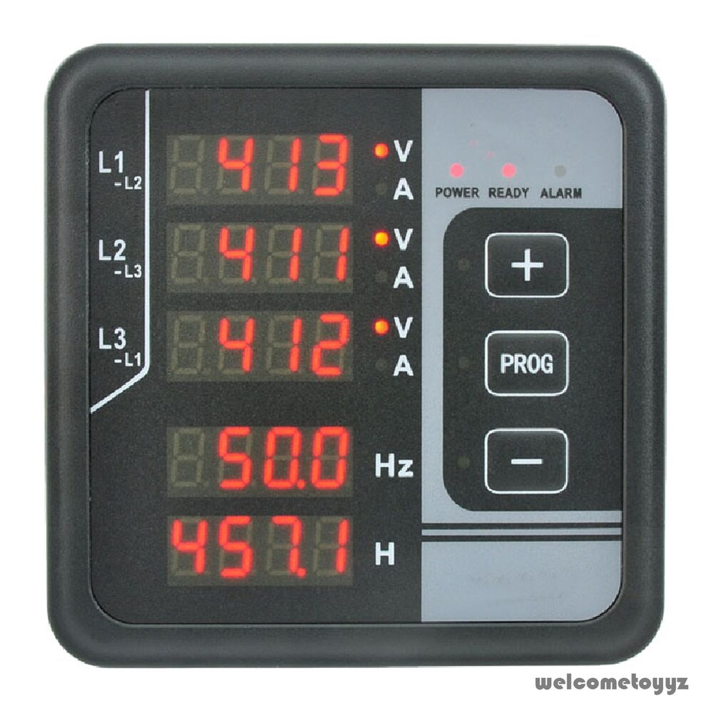 Digital Panel Meter : Phase ac voltage hz amps hours alarm multi functions