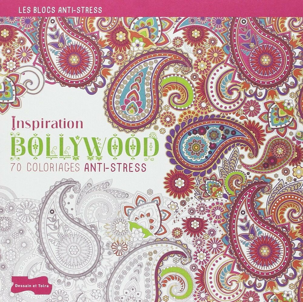 Adult coloring books ebay - Anti Stress Colouring Book Ebay Bollywood Adult Colouring Book Art Therapy Anti Stress Relaxing 9782295004956