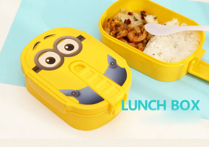 new cute cartoon owl lunch box food container storage box portable bento box ebay. Black Bedroom Furniture Sets. Home Design Ideas