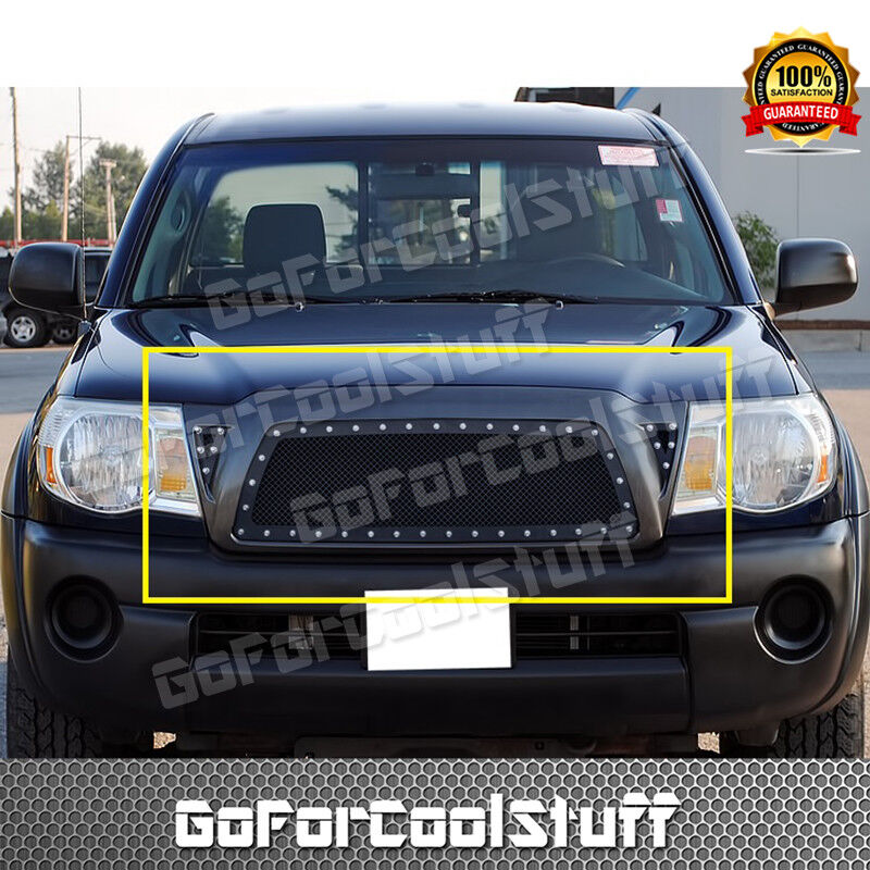 For Toyota Tacoma 2005 2010 Steel Black Mesh Grille Grill