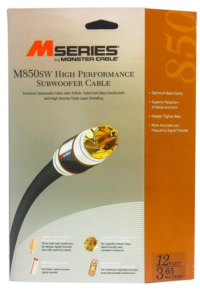 Monster Cable M850 High Performance Subwoofer Audio Cable