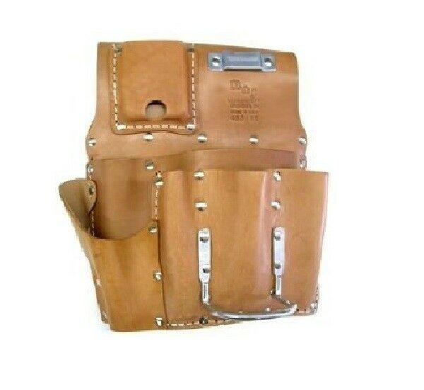 Leather Wall Equipment Holder: R-485-US Drywall Leather Pouch Hand Crafted Pouch Utility