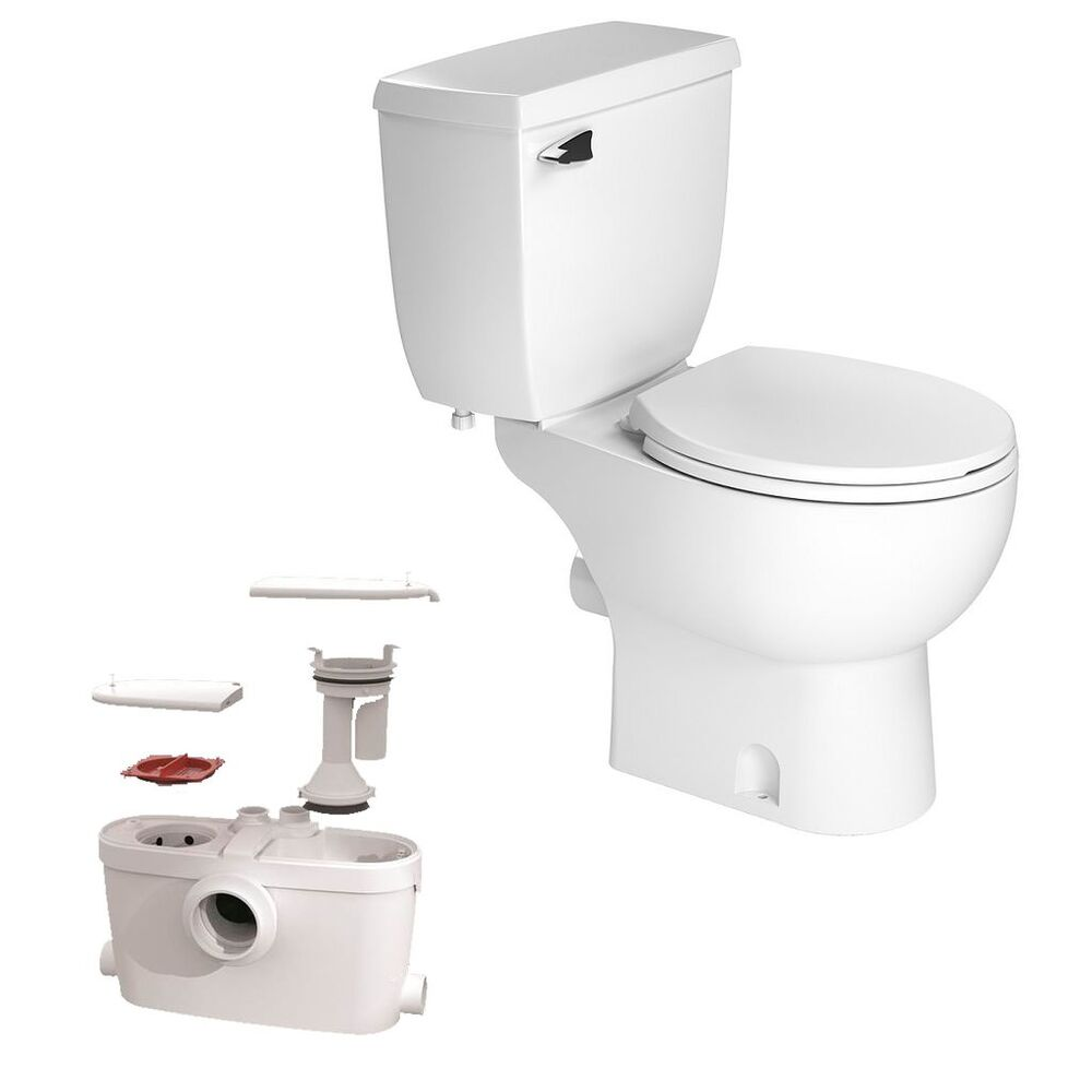 Saniflo Saniaccess3 082 Pump Elongated Bowl Toilet With