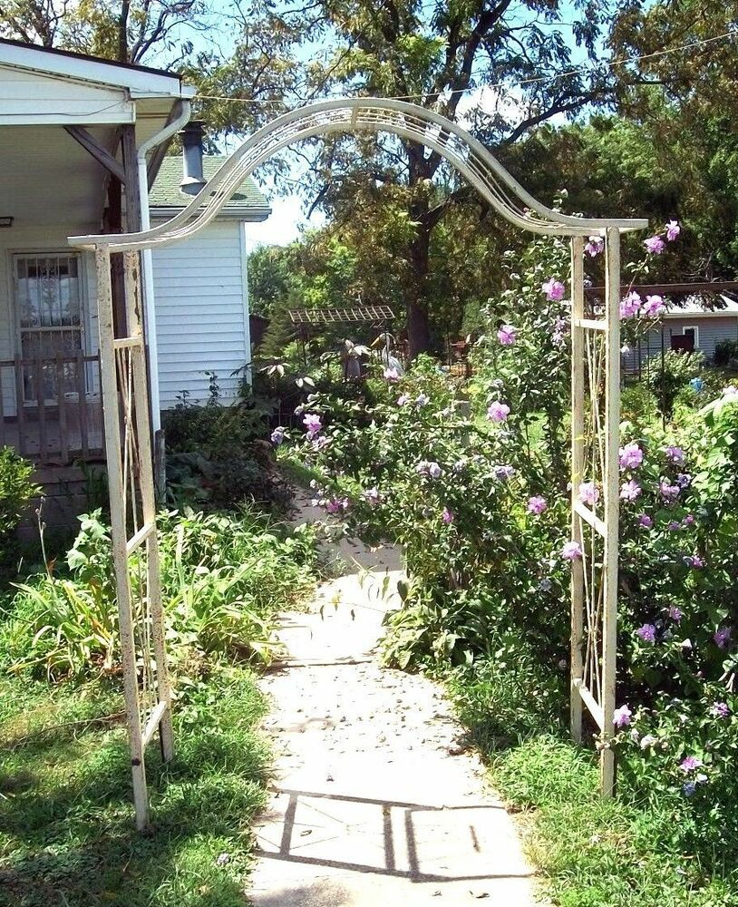 Wrought iron egyptian flower arbor great metal garden