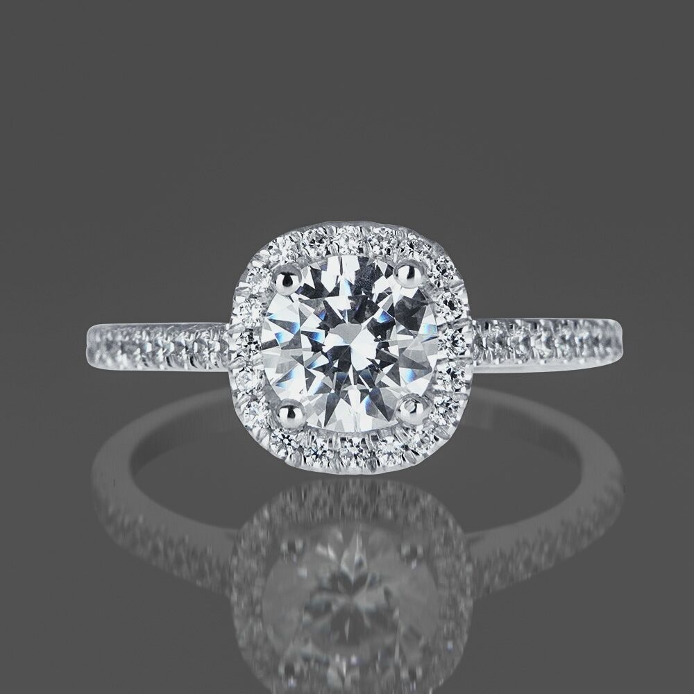 Valentine S 1 Ct Diamond Engagement Ring Round D Vs2 14k