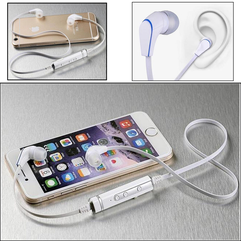 wireless bluetooth stereo with mic headset earphone for samsung galaxy s6 iphone ebay. Black Bedroom Furniture Sets. Home Design Ideas