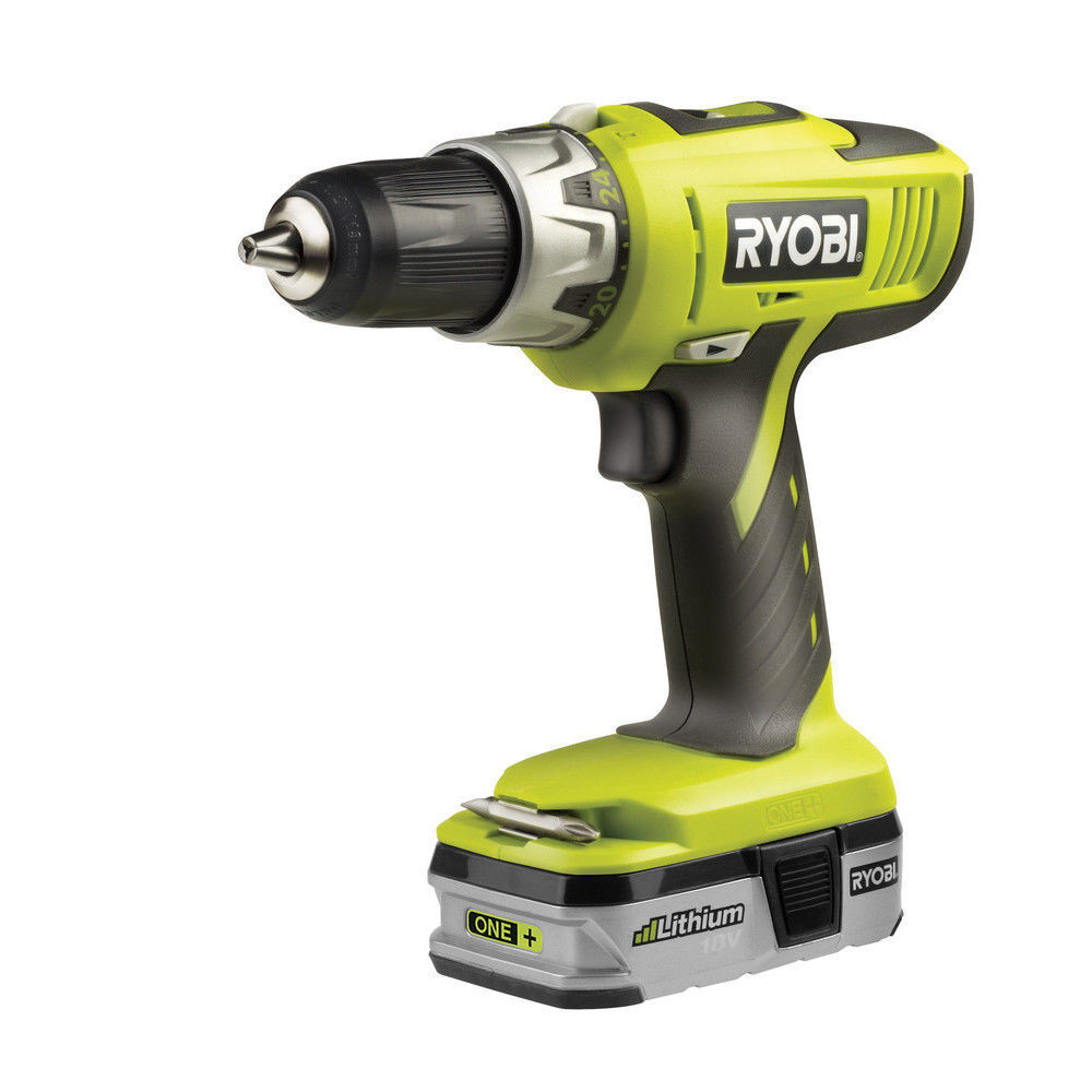 ryobi 18v lithium cordless combi hammer drill driver set from the one range ebay. Black Bedroom Furniture Sets. Home Design Ideas
