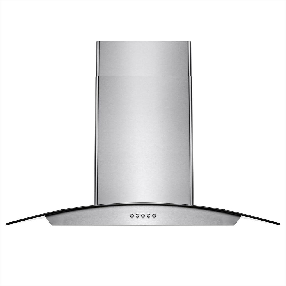 Cooking Range Hood ~ Quot stainless steel push control wall mount kitchen