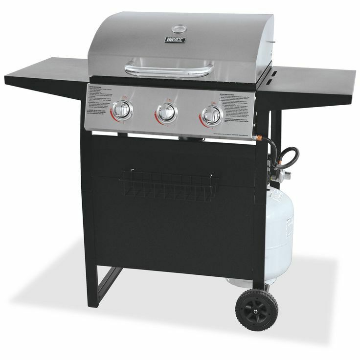 Gas Grill 3 Burner BBQ Backyard Patio Stainless Steel Barbecue Outdoor Cookin