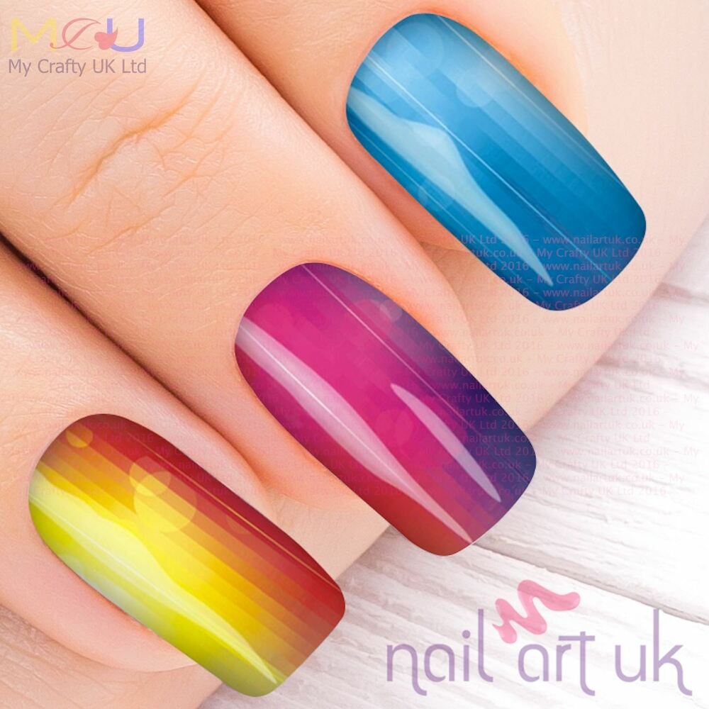 Nail Art Stickers: Vivid Neon Water Decal Nail Art Stickers, Decals, Tattoos