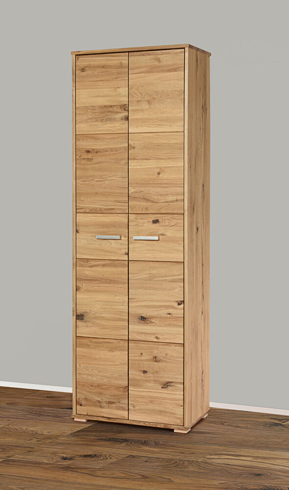 garderobenschrank kleiderschrank 5137 23 schrank wildeiche massiv eiche holz ebay. Black Bedroom Furniture Sets. Home Design Ideas
