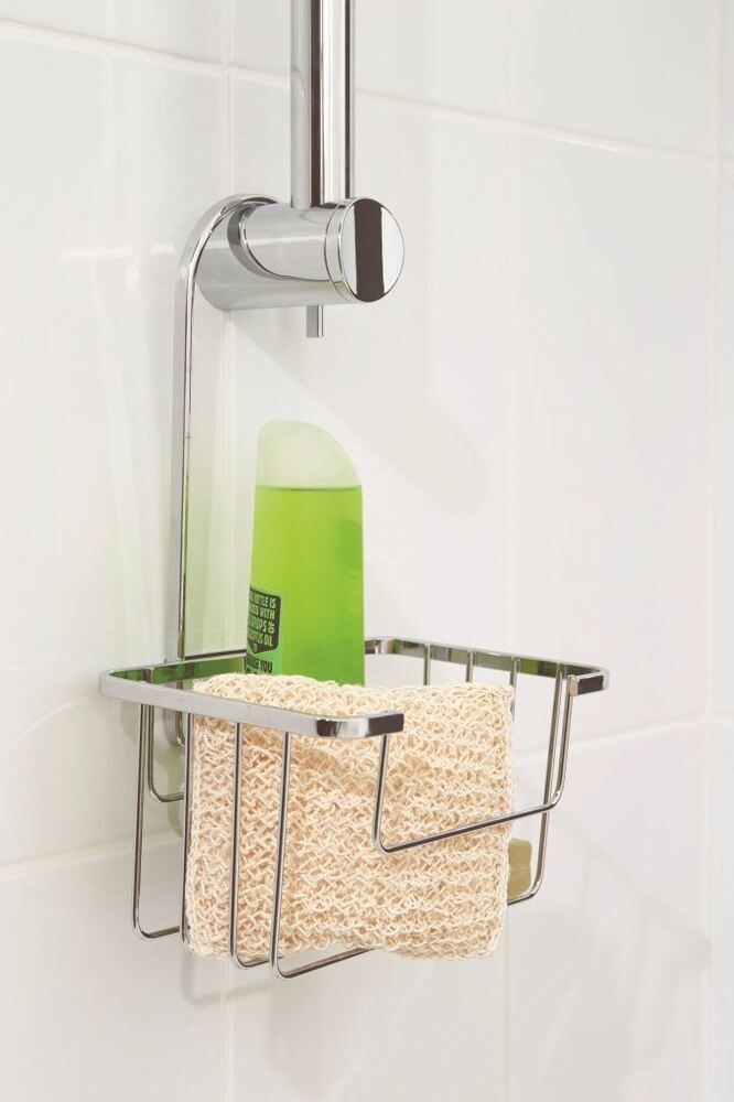 Croydex Shower Riser Rail Caddy Holder Basket Holder