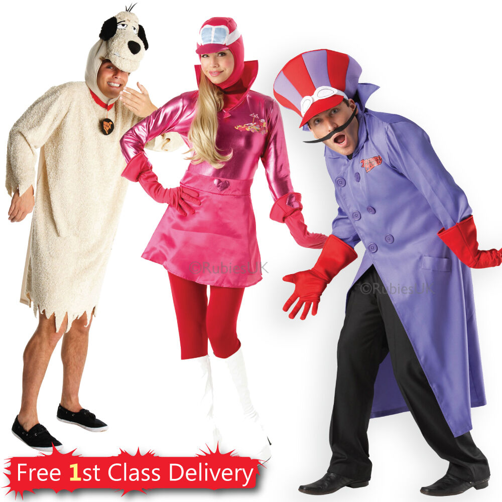 Awesome Adult Wacky Races Fancy Dress Couples Costumes Licensed Penelope Dick  Dastardly | EBay