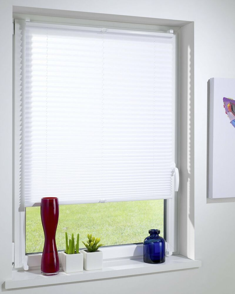 No Drill Pleated Clip Fit Braced Folding Roller Blind