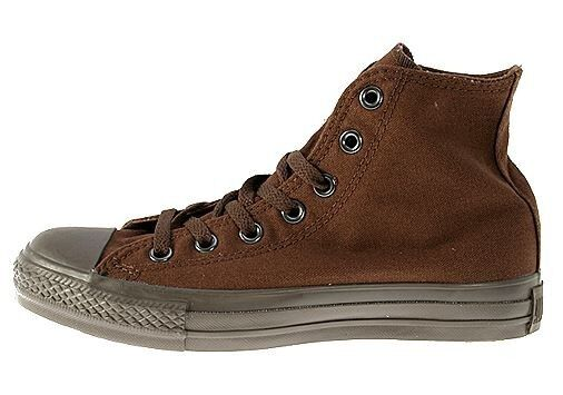 7f40fdae6fb3 Converse All Star Chuck Taylor Chocolate Mono Brown Hi Top Canvas 1U675 KO8