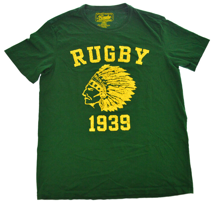 Ralph Lauren Rugby NATIVE INDIAN Chief Head 1939 M Shirt