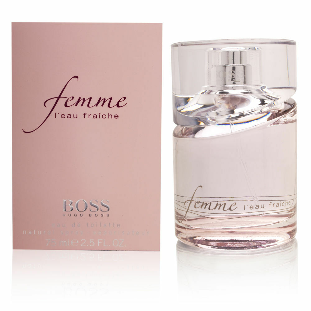 boss femme l 39 eau fraiche by hugo boss edt spray women 1 6 oz new in box ebay. Black Bedroom Furniture Sets. Home Design Ideas