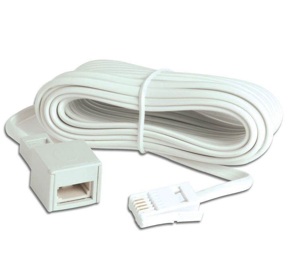 Telephone Extension Leads : White telephone cable bt landline extension home cables