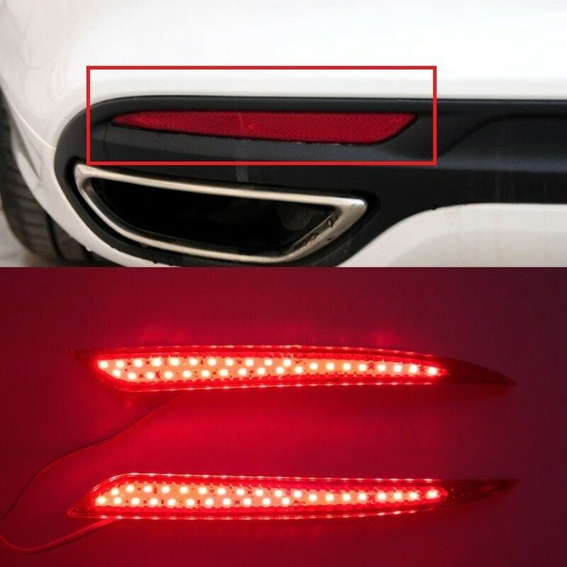 Red Led Rear Bumper Reflector Tail Fog Light Lamp For Ford