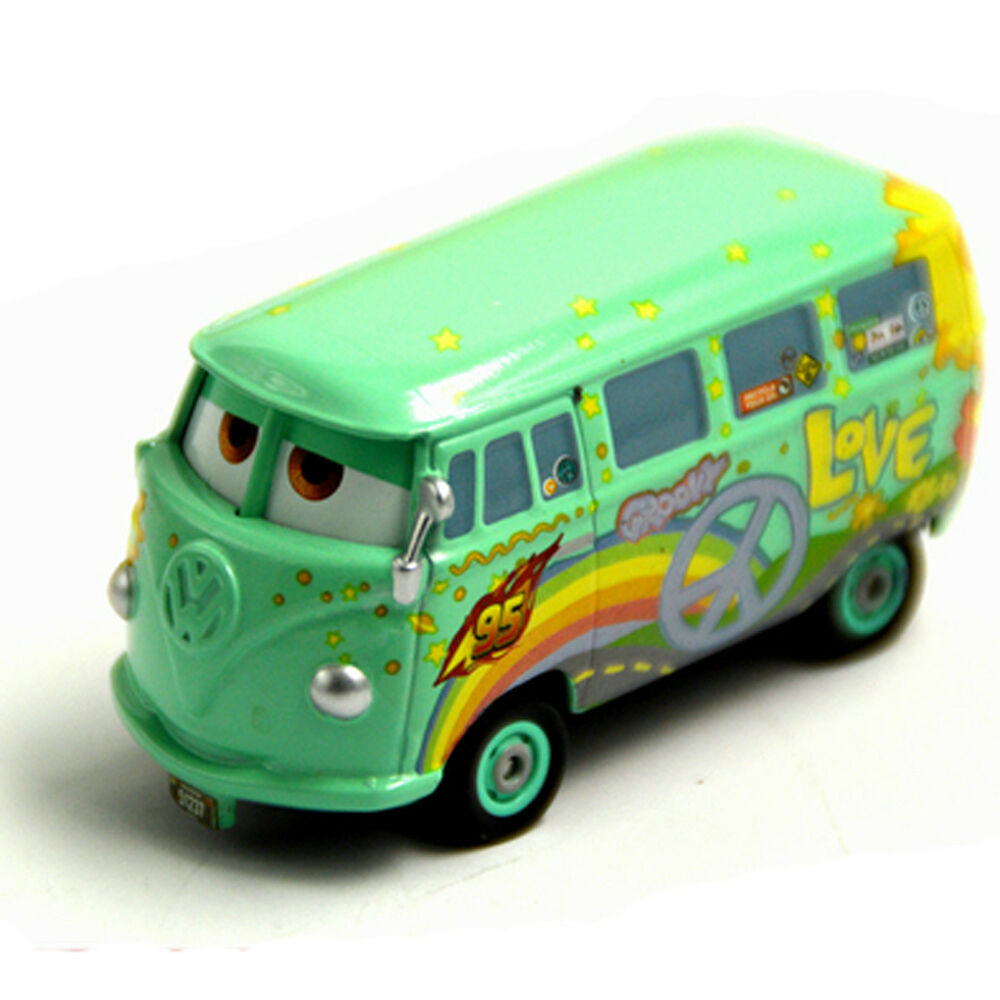 Toys For Cars : Original mattel disney pixar cars fillmore metal toy bus