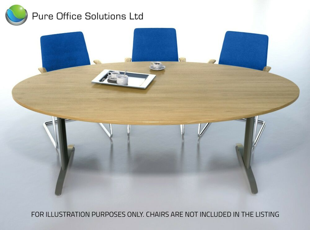 Sven 2 2 x seat 6 oval boardroom table conference for 1 x 2 table
