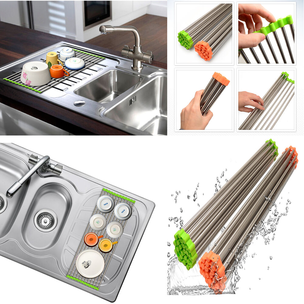 Korea Silicone Stainless Sink Mat Drying Rack Kitchen