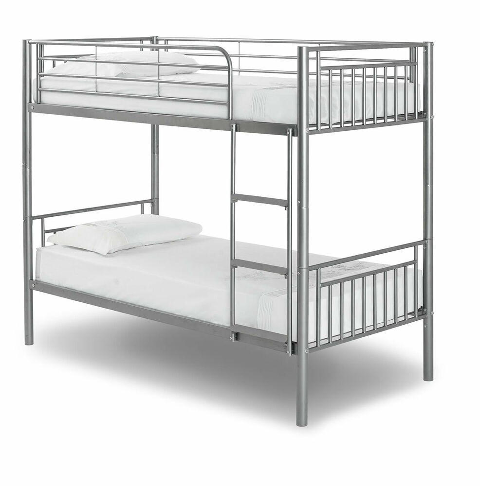 new saffron metal bunk bed with 2 mattresses free p p