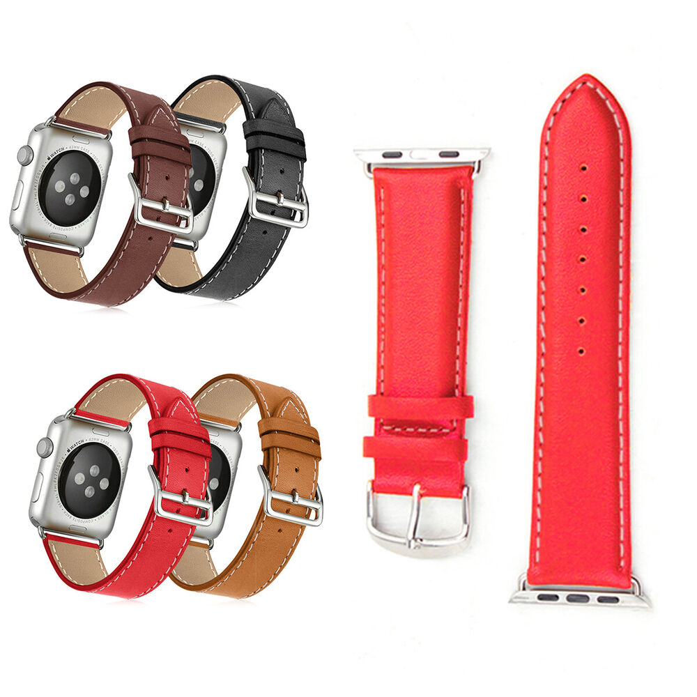 New Genuine Leather Strap Wrist Band For Apple Watch ...
